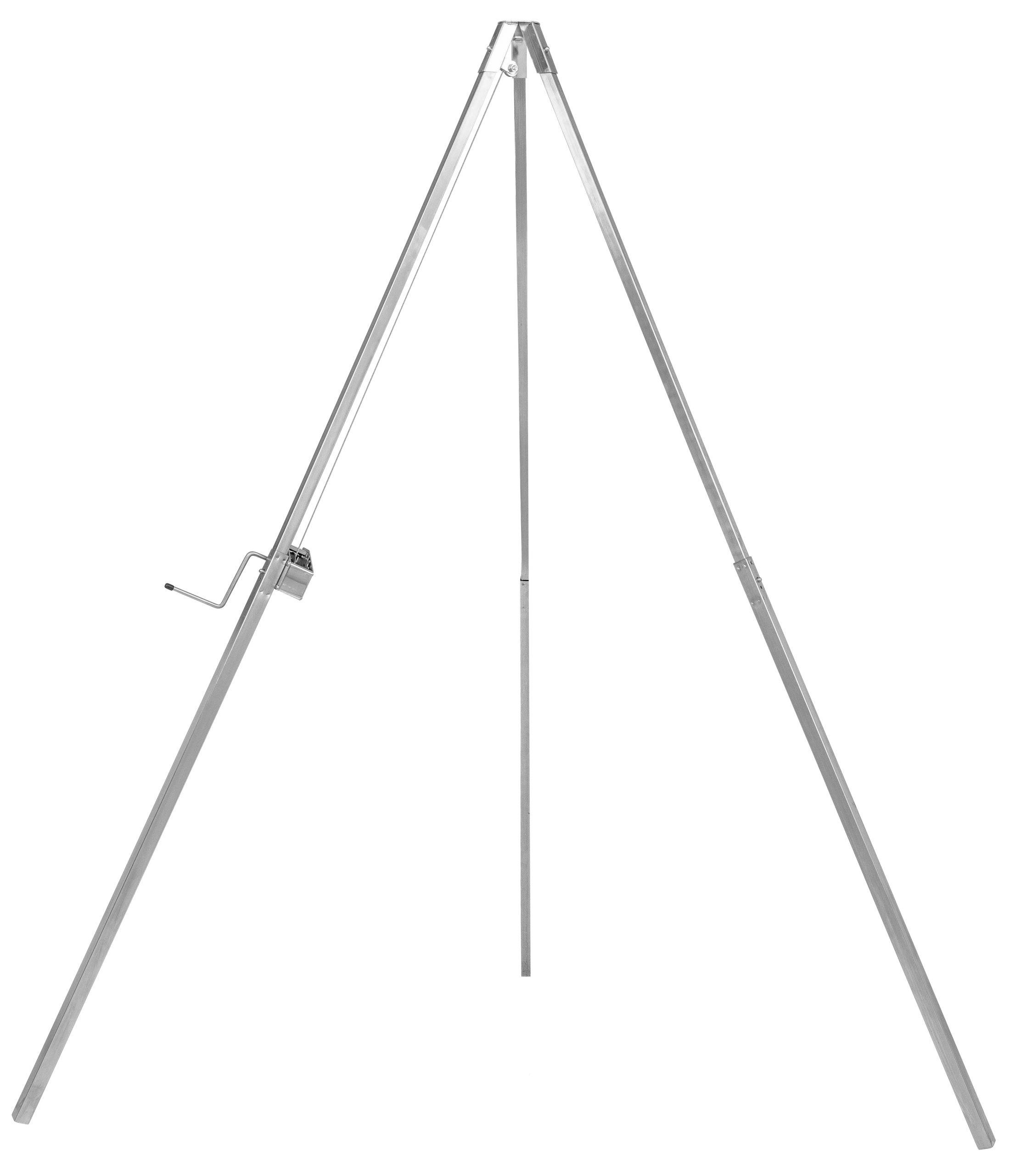 Edelstahl Standrohre für Schwenkgrill Dreibeingrill 200 cm