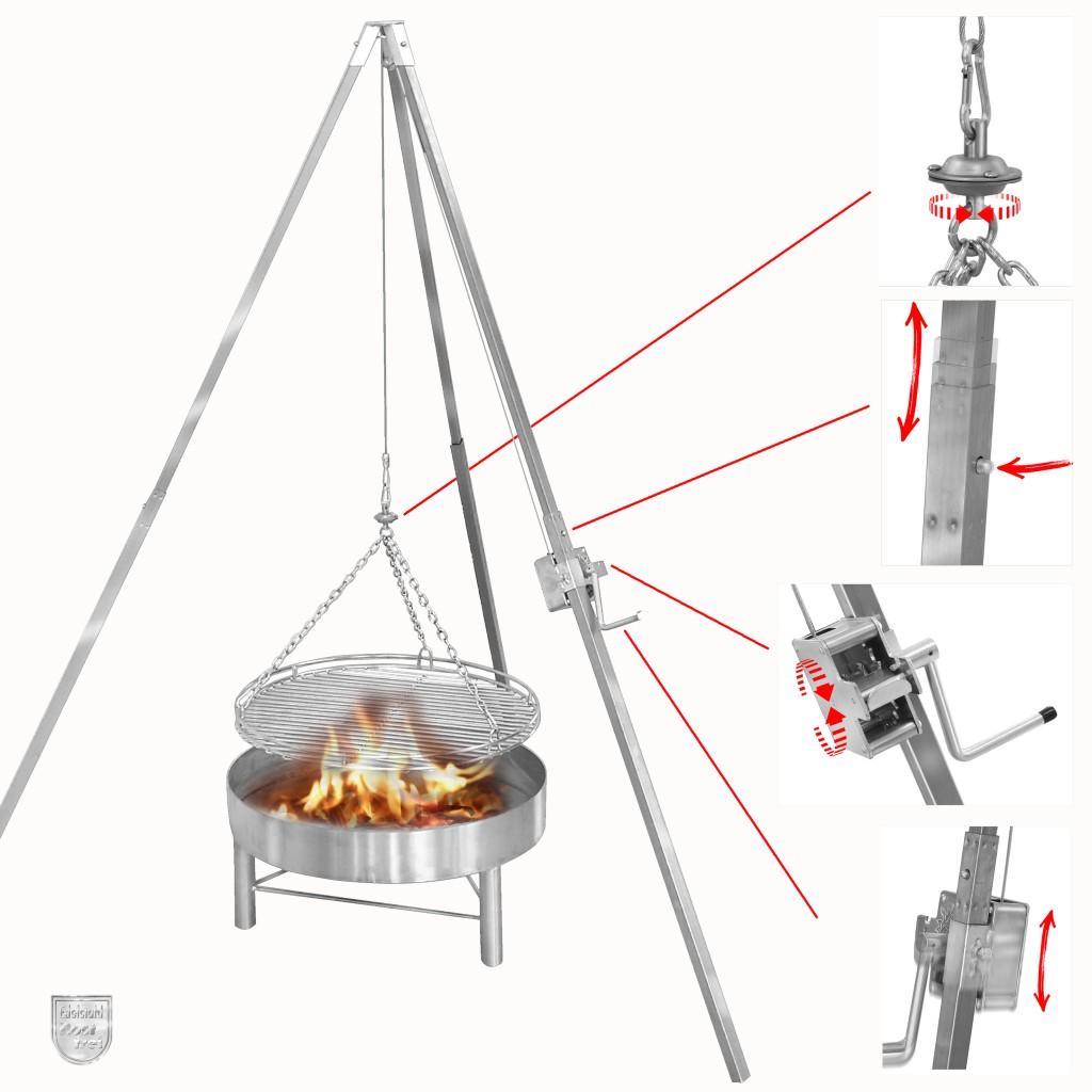Dreibeingrill mit Feuerstelle