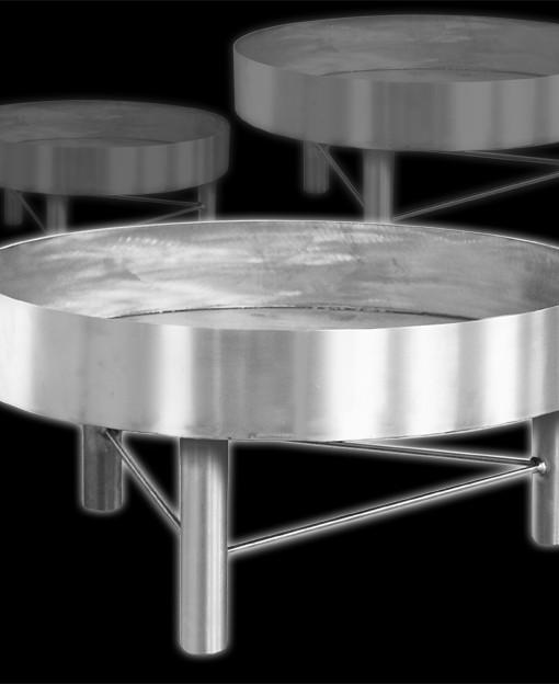 feuerstelle aus edelstahl 55 cm von. Black Bedroom Furniture Sets. Home Design Ideas